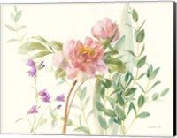 Flourish I Light Pink Crop Fine-Art Print