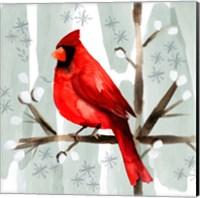 Christmas Hinterland I Cardinal Fine-Art Print