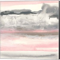 Charcoal and Blush I Fine-Art Print