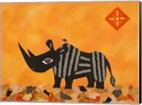 Rhino with Summer Sky Fine-Art Print