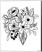 Flower Sketch Fine-Art Print
