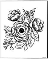 Flower Sketch II Fine-Art Print