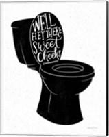 Bathroom Puns IV Black Fine-Art Print