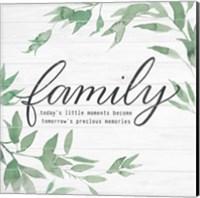 Family on Shiplap I Fine-Art Print