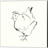 Line Chicken II Fine-Art Print