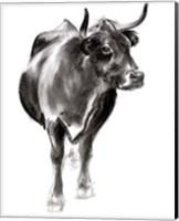 Charcoal Cattle I Fine-Art Print