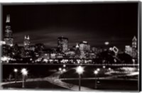 Chicago at Night Fine-Art Print