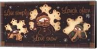 Live Simply, Love Snow, Laugh Often Fine-Art Print