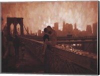 Les Amoureux de Brooklyn Bridge Fine-Art Print