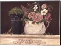 Floral W-Black Bucket Fine-Art Print