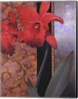 Orchid Redteal Damasque Fine-Art Print