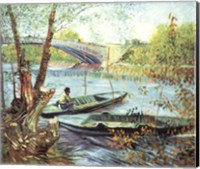 A Fisherman in His Boat Fine-Art Print