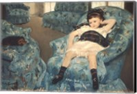 Little Girl in a Blue Armchair, 1878 Fine-Art Print