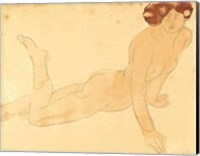 Femme nue allongee sur le ventre (serigraph) Serigraph