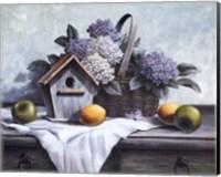 Birdhouse, Hydrangea, Apple Fine-Art Print