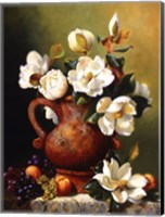 Magnolias In Terra Cotta Fine-Art Print