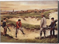 Golf In the Sand Pit Fine-Art Print