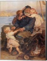 Fisherman with Children Fine-Art Print