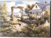 Country Home with  Front Garden Fine-Art Print