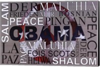 Obama Peace Wall Poster