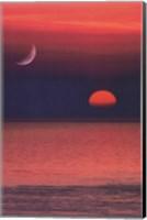 Coastal Sunset Portrait Fine-Art Print