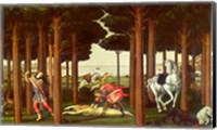 The Story of Nastagio degli Onesti: The Disembowelment of the Woman Pursued, 1483-87 Fine-Art Print