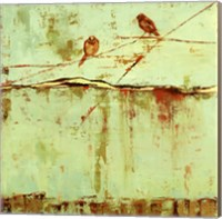 Birds on Horizon in Blue Fine-Art Print
