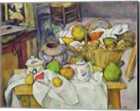 Still life with basket Fine-Art Print