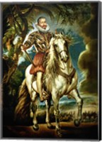 Equestrian portrait of the Duke of Lerma Fine-Art Print
