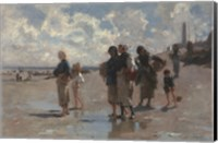 Fishing for Oysters at Cancale, 1878 Fine-Art Print