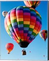 Gorgeous Rainbow Hot Air Balloon Fine-Art Print