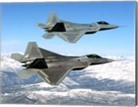 Two F-22 Raptor in Flying Fine-Art Print