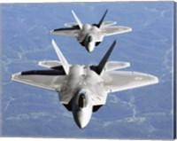 Two F-22A Raptor in Column Flight Fine-Art Print