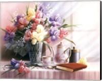 Teapot and Iris Fine-Art Print