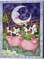 Old MacDonald Pigs Fine-Art Print