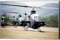 Three AH-1 Cobra gunship helicopters Fine-Art Print