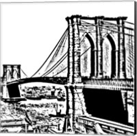 Black Brooklyn Bridge Fine-Art Print