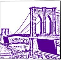 Purple Brooklyn Bridge Fine-Art Print