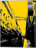 City Street on Yellow Fine-Art Print