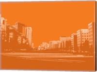 City Block on Orange Fine-Art Print