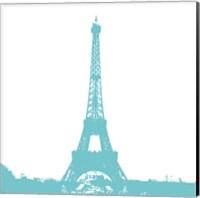 Aqua Eiffel Tower Fine-Art Print