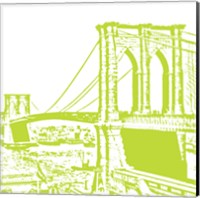 Lime Brooklyn Bridge Fine-Art Print
