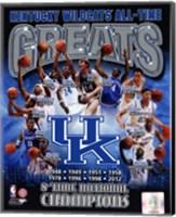 University of Kentucky Wildcats All Time Greats Composite Fine-Art Print