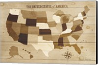 USA Modern Vintage Wood Fine-Art Print