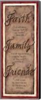 Faith Family Friends Panel Fine-Art Print
