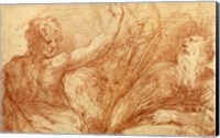 Studies of Saints John the Baptist and Jerome Fine-Art Print