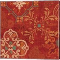 Crimson Stamps II Fine-Art Print