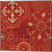 Crimson Stamps III Fine-Art Print
