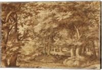 Forest Landscape with a Distant Castle Fine-Art Print