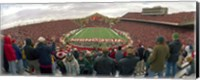 Spectators watching a football match at Camp Randall Stadium, University of Wisconsin, Madison, Dane County, Wisconsin, USA Fine-Art Print